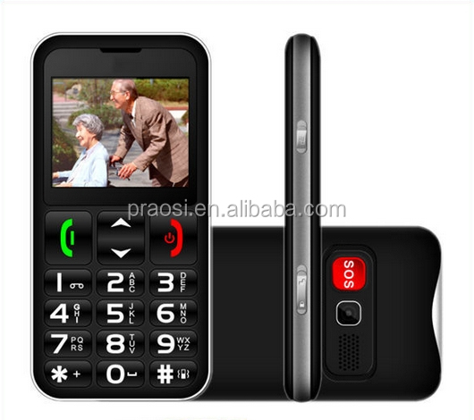 "2.2"" inch lcd screen dual sim seniors cell phone gsm easy use mobile phone with sos button"