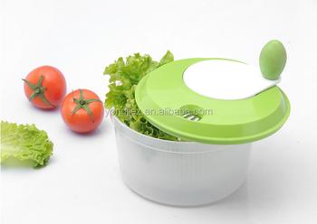 Kitchen Appliance Tools Salad Mixer Plastic Manual Fruit Vegetable Salad Spinner