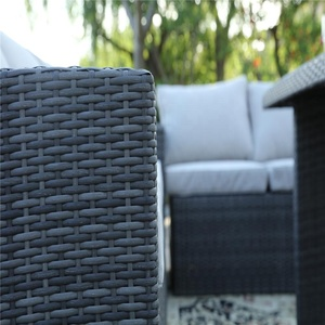 Patio Furniture Outdoor Sectional Grey Rattan Garden Corner Sofas