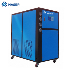 8 ton scroll industrial water to water cooling chiller for chemical reaction kettle cooling
