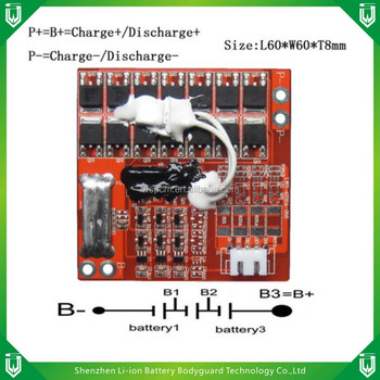 11.1v PCM/BMS/PCB 3s 11.1v Li-ion Battery Packs pcb,controller board pcb 3s 30a