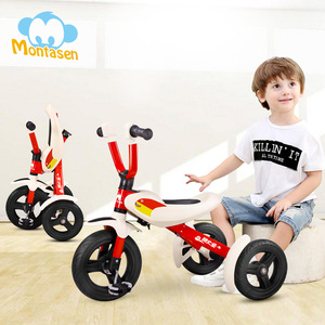 Montasen 3 Wheel Baby Tricycle Kids Foldable Toy High Carbon Steel Tricycle Baby For 2-6 Years Old