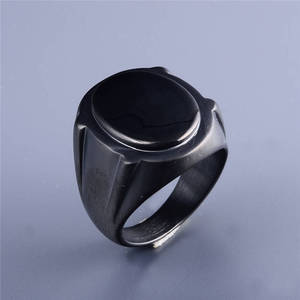 Black Blanks Stainless Steel Man Ring