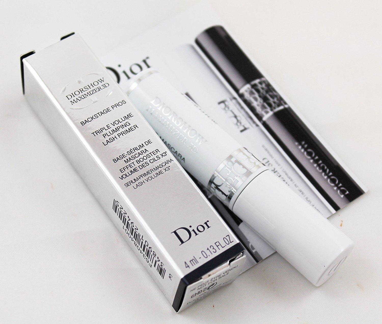 3694b6dd102 Dior Diorshow Maximizer 3D Lash Primer Triple Volume Plumping Mascara Base  Backstage Pros .13 ounce