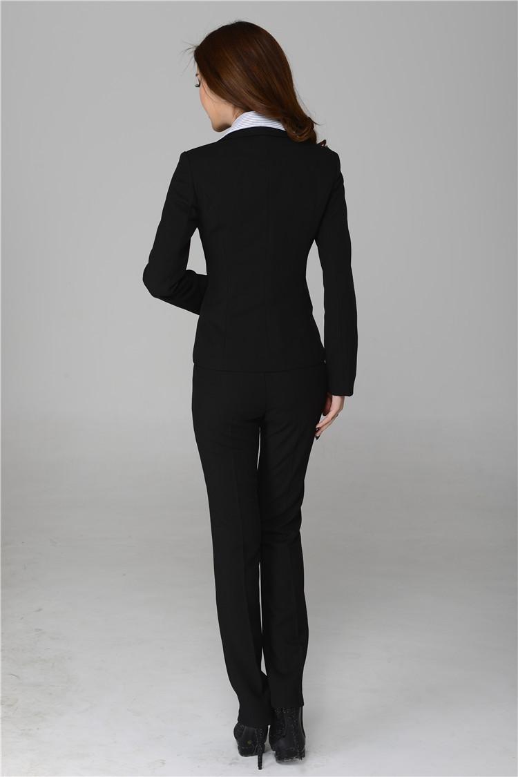 Весна и осень дамы брючные костюмы для женщины рабочий зима пиджак женское офис форма стили элегантный брючный костюм