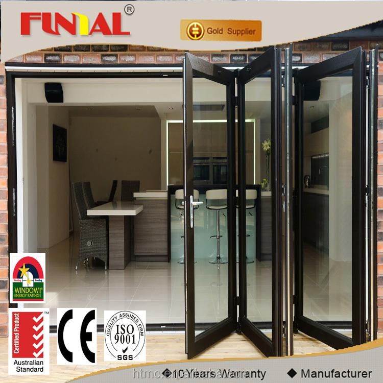 Mejor calidad acordeón puertas correderas plegables con mosquitera ...