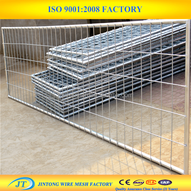 Heavy duty galvanized metal farm gates for sale
