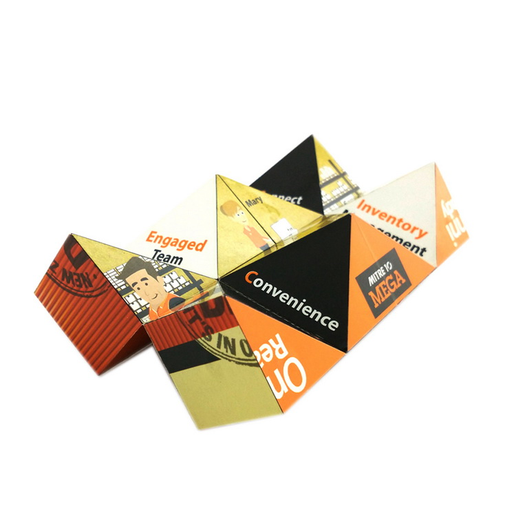 OEM customized advertising folding magical cube magnet puzzle