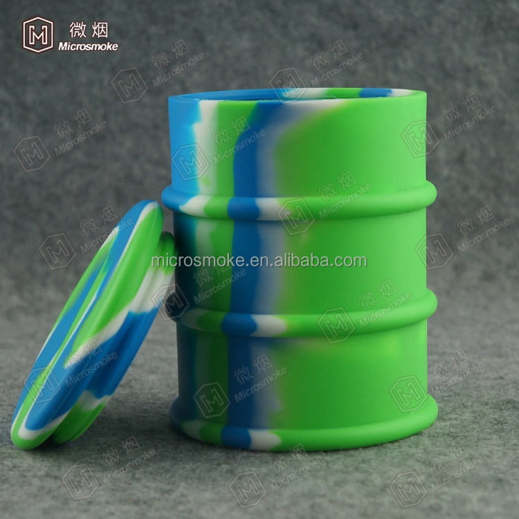 Large platinum cured silicone container Silicone Drum Container Oil dab barrel container DHL free shipping
