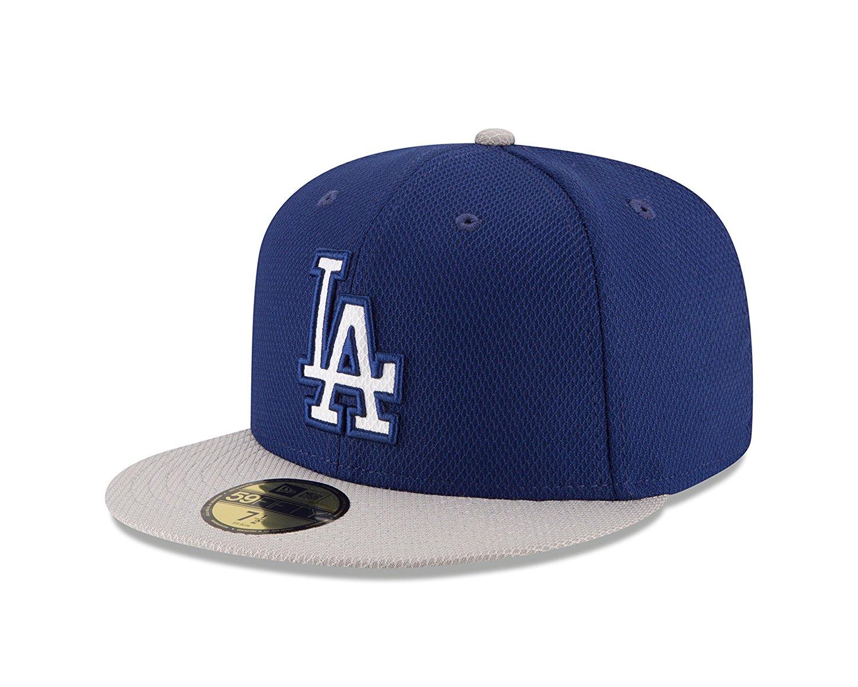 6b68642ab9a Get Quotations · New Era 59Fifty Batting Practice 2016 Los Angeles Dodgers  Road (Blue) MLB Cap