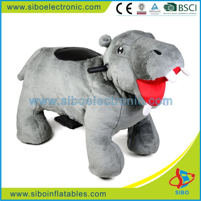 GM59 playing on mall battery animal rides plush material with CE certification