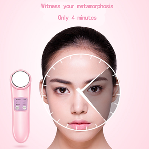 Portable Electric Facial Galvanic Vibrating Massager/Hot and Cold Face Beauty Care Device