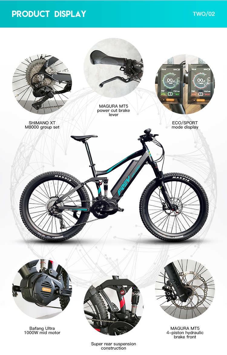 3Rd Gen Am1000 Bafang Top Ultra Mid Drive Electric Mountain Bike