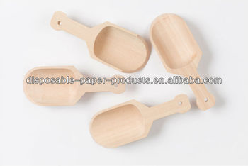Wooden Utensils Wooden Flatware Unfinished Wood Larger Scoops - 4 5 Inch  Natural Wood Scoops For Gifts,Baking Kits,Crafts - Buy Larger Wooden