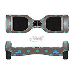 The Gray & Blue Polka Dot Full-Body Wrap Skin Kit for the iiRov HoverBoards and other Scooter (HOVERBOARD NOT INCLUDED)