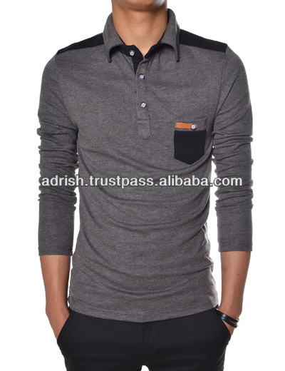 2014 basic men's polo shirts good quality fashion shirts