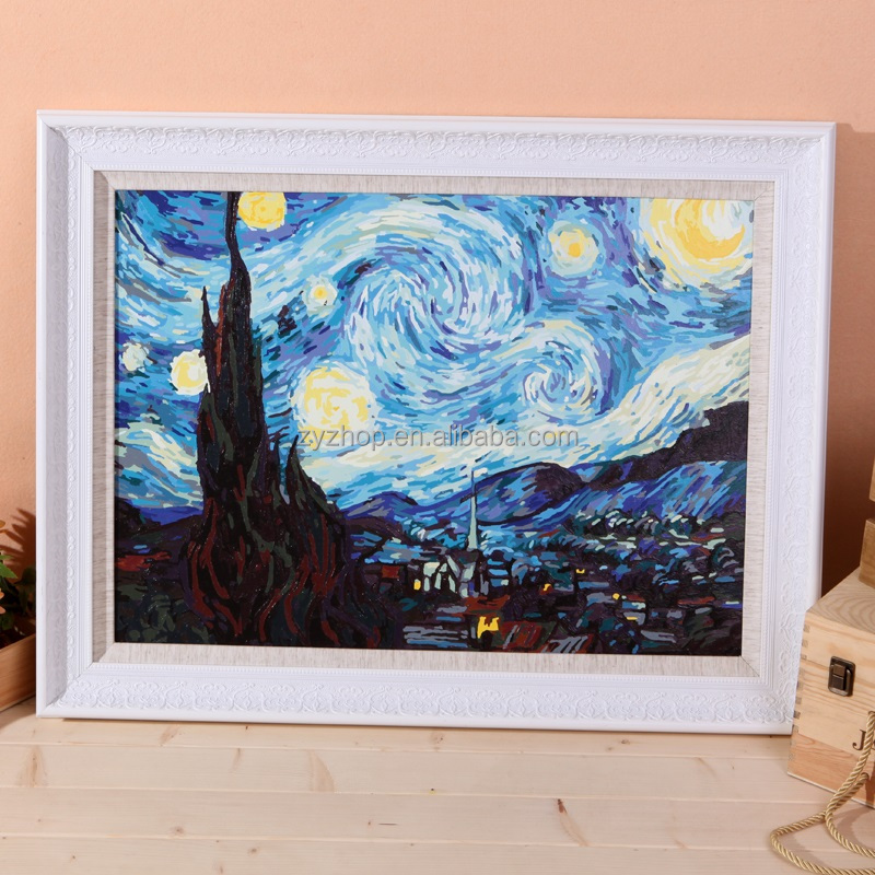 Free Mind Free Painting Van Gogh star art famous oil painting on canvas handmade diy painting