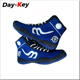 blue color knitting fabric wrestling shoes fitness gym sport footwear new september