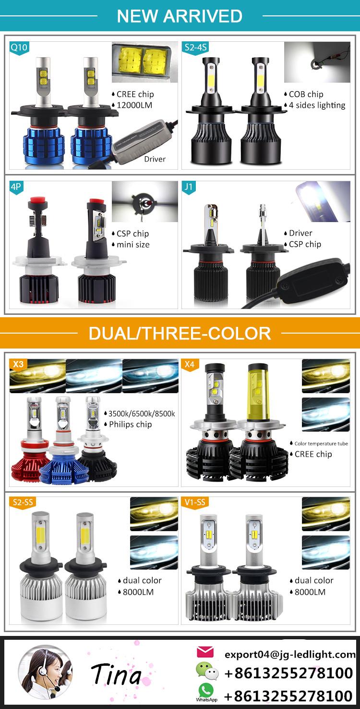 Super brillante 8000 Lumen sin ventilador 9004 9006 h11 h4 9007 9005 Dual Color X4 coche h4 Led faro