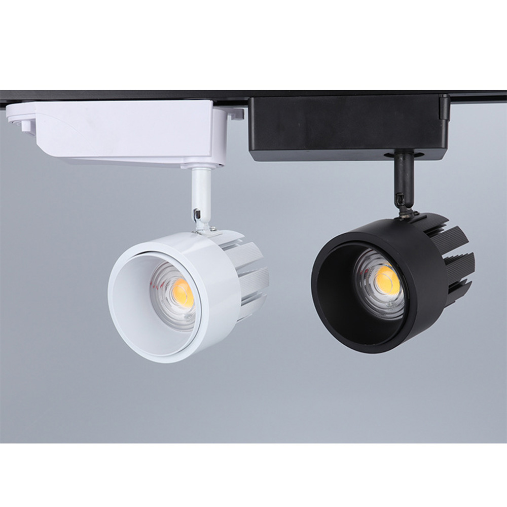 7W Surface Mounted Adjustable Beam Angle LED Track Lamp Dimmable Zoom COB LED Spotlight For Shopping Malls