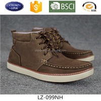 Men high neck genuine leather winter boots casual shoes stock shoes