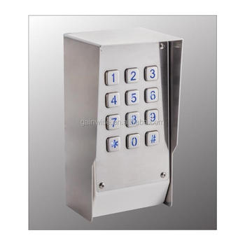 3g Keypad Gate Remote Control Pin Code Access Via Mobilesmscall