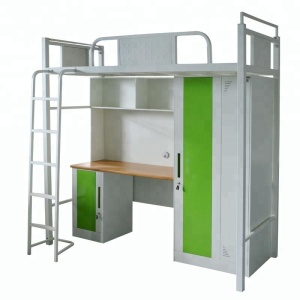 High Quality New Design Modern Knock-down Structure Steel Metal School Dormitory Diy Bunk Bed Design Bunk Bed with Desk