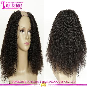 2016 Hot Sale Afro Kinky U Part Wig Virgin