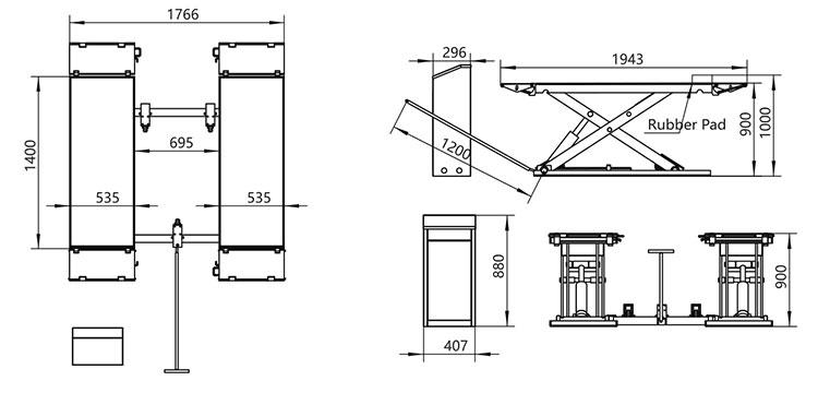 A MID-Rise móvel da plataforma Scissor o Portable do carro / bens / elevador do armazenamento