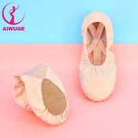 canvas soft sole dance shoes antislip leather Canvas Split Sole Ballet Shoes
