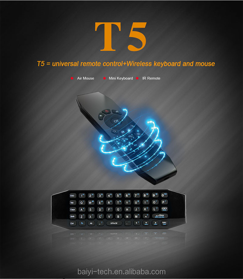 2.4G wireless air mouse T5 air mouse remote control For Desktop Laptop Android Tv box