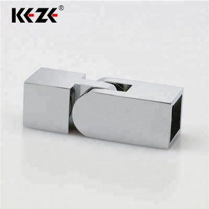 Optional Aluminum And Stainless Steel Swing Glass Door Square Pipe Tube Bar Connectors For Bathroom