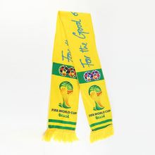 Top selling promotional customized logo national printed football sport fan soccer scarf