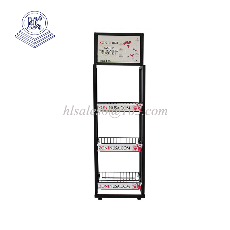 Floor Standing Wine Metal  Display Rack