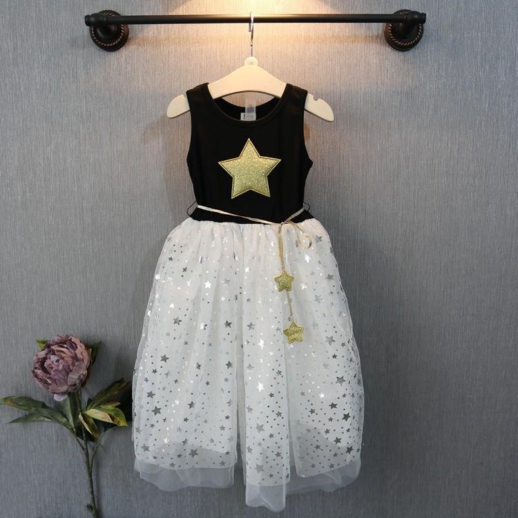 1b092a764 2019 New Summer Baby Girl Dress Kids Star Tutu Dress Sleeve Less ...