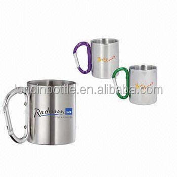 c1f042a851a Promotional 8oz Coffee Mug With Carabiner,9 Oz Coffee Mug With Carabiner  Handle,Europe Coffee Mug - Buy 8oz Stainless Steel Coffee Cup,Stainless  Steel ...