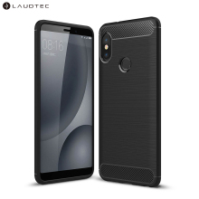 Brushed Carbon Fiber Shockproof Phone Case <span class=keywords><strong>voor</strong></span> <span class=keywords><strong>Xiaomi</strong></span> Mi 6X/<span class=keywords><strong>voor</strong></span> Redmi Note 5 Pro