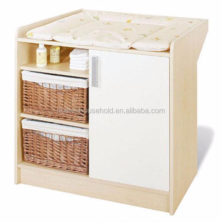 Custom Size Safeway Furniture Wooden Storage Wicker Basket Baby Changing  Table