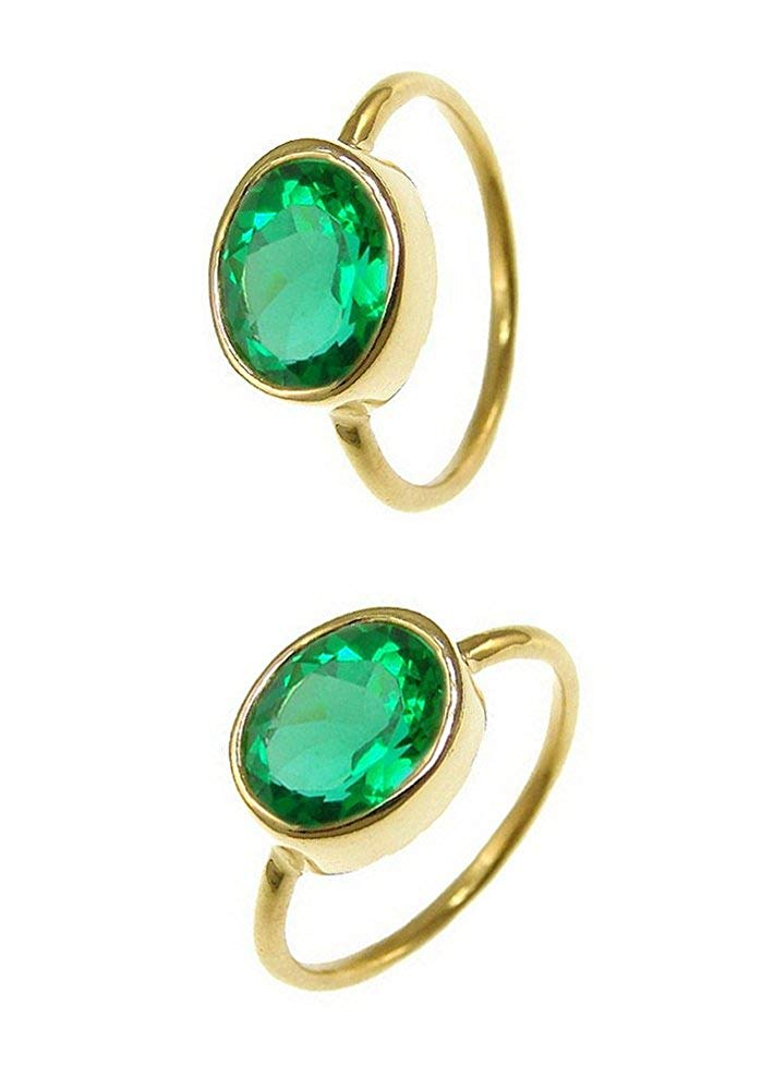 Nathis Gemstone Stacking Ring With Peridot