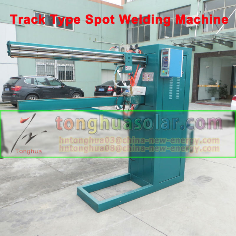 solar water heater water storage tank track type spot welding machine