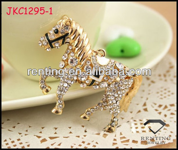 High quality Fashion Rhinestone Crystal horse bag Keychain