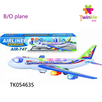 Bo Bump And Go Light Up Airplane 747 With Music Toy Plane