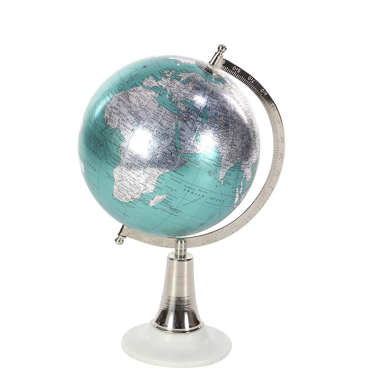 Silver Multi Colored Deco 79 43498 Aluminum And Pvc Arrow Styled Decorative Globe 14 X 13 Home Decor Accents Home Decor