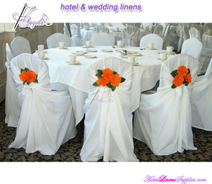 white polyester universal chair covers for banquet chairs in wedding decorations