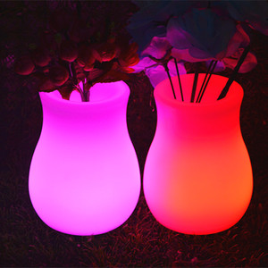 led solar powered flower lights plastic plant pots with great price