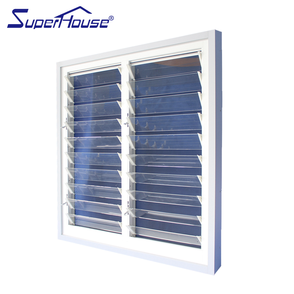 USA Canada market use glass louver with mosquito net