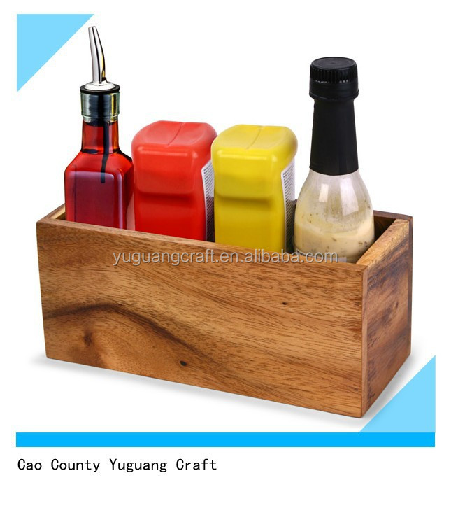 Wooden Condiment Caddy, Wooden Condiment Caddy Suppliers And Manufacturers  At Alibaba.com