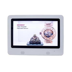 see-through advertising media player box touch screen transparent lcd display fridge