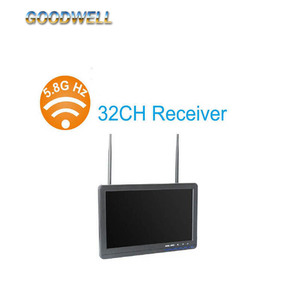 Dual 32 Channel AV Receiver 10.1 Inch FPV Monitor for RC Helicopter Aerial Photography