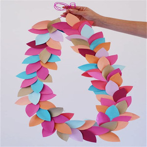 Colorful Wedding Paper Wedding Glitter Star Paper Garland